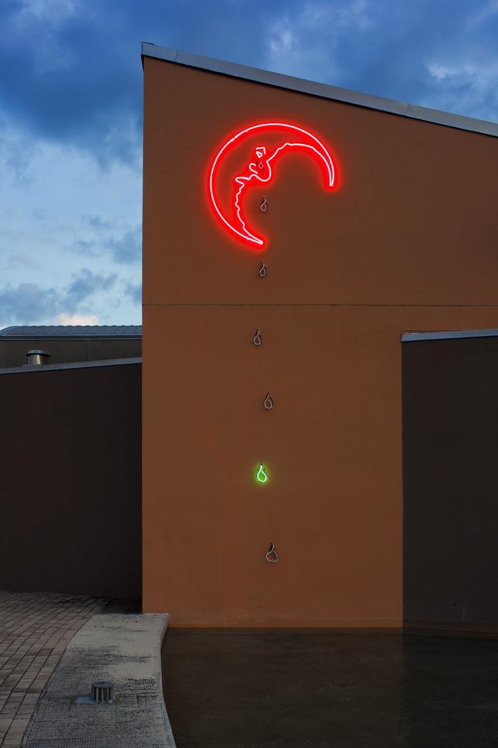 Mark Handforth, Weeping Moon, 2010