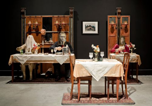Edward and Nancy Kienholz, The Soup Course at the She-She Cafe, detail, 1982