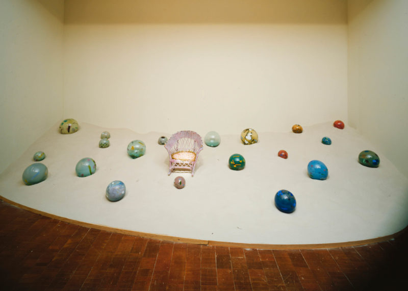 Installation view: Betye Saar, Oasis, 1984, at The Museum of Contemporary Art, Los Angeles, California. Courtesy of the artist and Roberts Projects, Los Angeles.