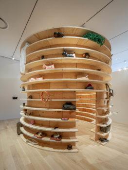 Installation view of artwork by Carlos Sandoval de León at the Institute of Contemporary Art, Miami (ICA Miami)