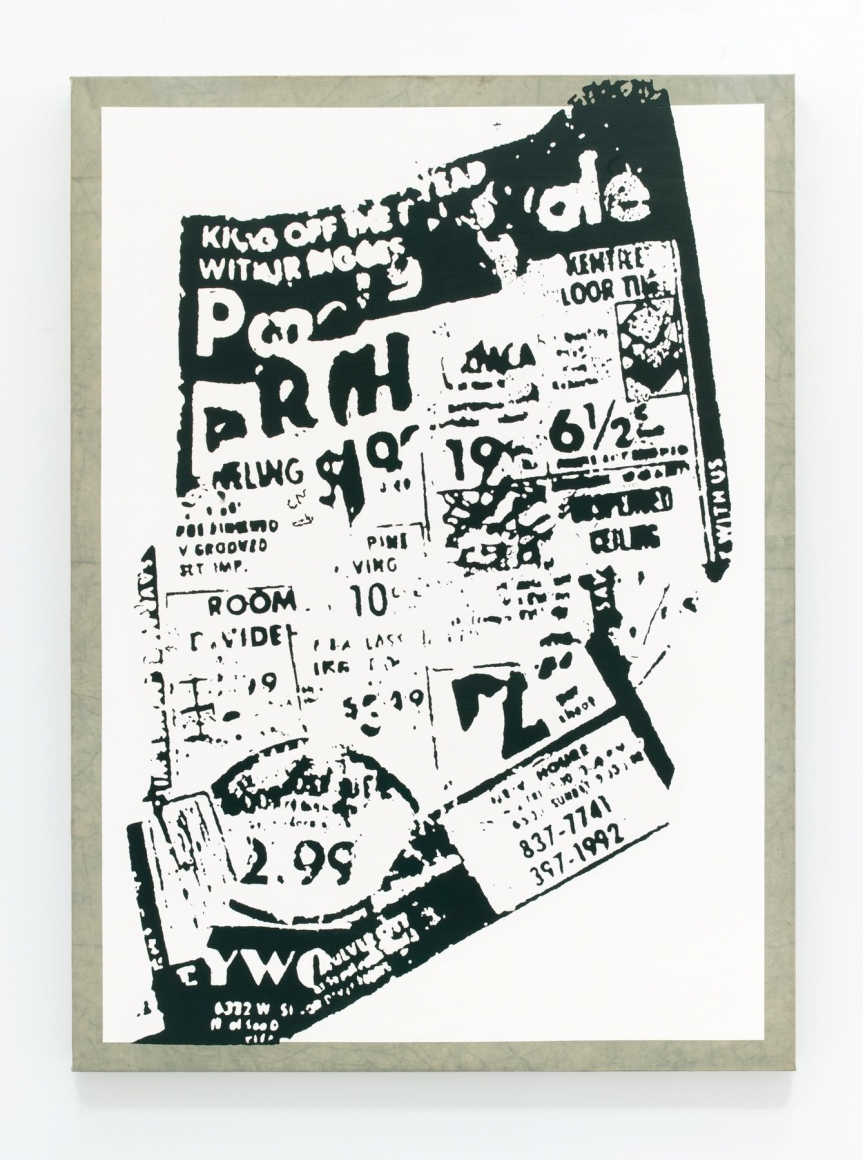 Image of Allan McCollum, Untitled (Blown-Up Newspaper Print), 1968