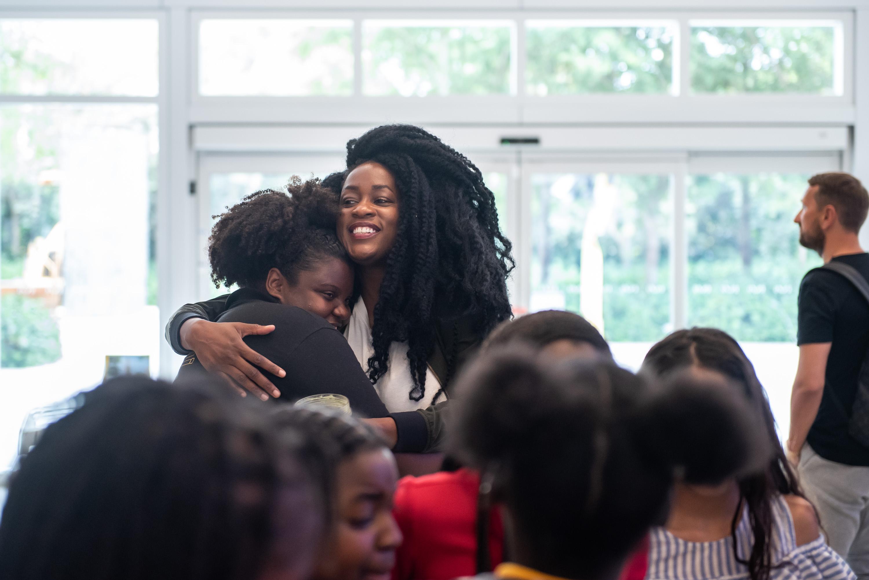 Teaching Artist Octavia Yearwood at ICA Miami. Photo: Chris Carter.