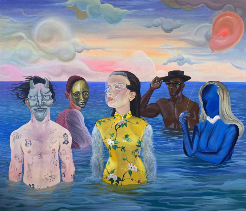 Dalton Gata, Untitled (Dream), 2019. Acrylic on canvas, 75 × 65 in. Courtesy the artist and Galería Agustina Ferreyra.