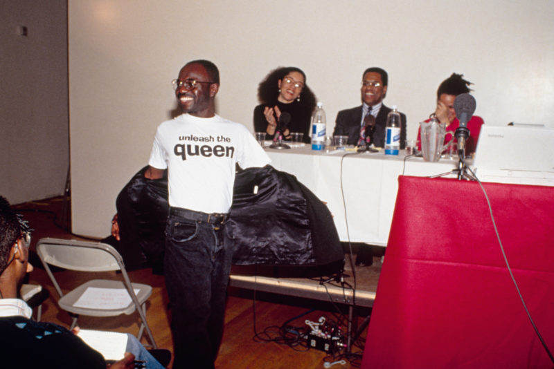 Lyle Ashton Harris, Marlon Riggs, Judith Williams, Houston A. Baker, and Jacquie Jones at the Black Popular Culture Conference (New York City, 1991), 2016. Chromogenic print. Framed Dimensions: 24 1/8 x 18 5/8 x 1 1/4 in. Courtesy of the artist, Salon 94, New York, and David Castillo Gallery, Miami.