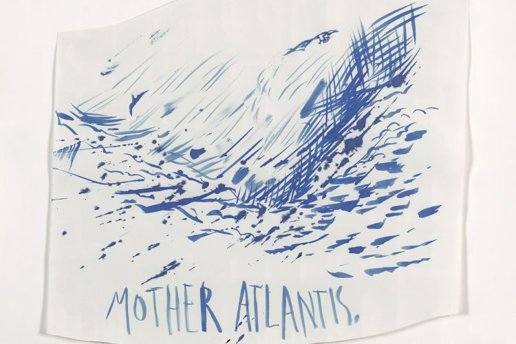 Raymond Pettibon, Untitled (Mother Atlantis), 2003. Ink on paper. Institute of Contemporary Art, Miami. Gift of the Artist.