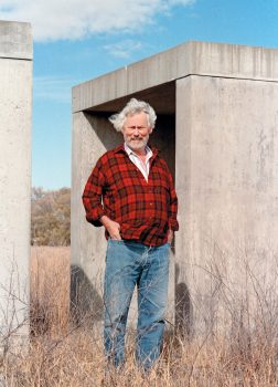 Image of the artist Donald Judd, photographed in Marfa, Texas, in 1993 by Laura Wilson